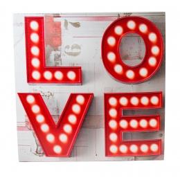 TELA COM LED LOVE