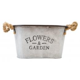 CESTA DE METAL FLOWERS E GARDEN M